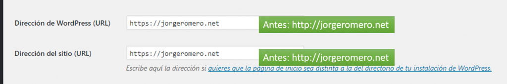 Cambio http a https WordPress