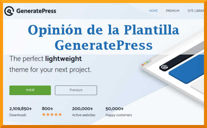 Opinión sobre GeneratePress tema para wordpress